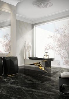 Consider whole slabs of Imported marble to line the shower walls or floors. Use best colors such as gray, white, and cream, which will make the spaces feel light and clean. There is the best range of stones that can make the bathroom filled with glamours like the White Carrara or the Marquina marble. A Great-quality stone is a great place to start to get inspired. #design #importedmarble #designer #marblefloor #marbleworld #marblestone #interiordesign #homedecor Bathroom Design Inspiration, Bathroom Interior Design, Modern Interior Design, Design Ideas, Bathroom Designs, Interior Ideas, Design Trends, Bathroom Ideas, Black Bathroom Floor