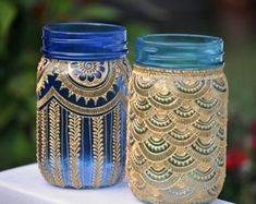 Wedding Bohemian Centerpieces Mason Jars New Ideas Diy Bottle, Bottle Crafts, Purple Mason Jars, Wedding Planning Quotes, Mason Jar Lanterns, Recycled Home Decor, Mason Jar Crafts, Rustic Christmas, Party Fashion