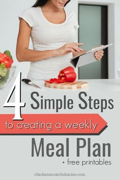 Meal Planning on a budget - free printables to get you started on a weekly meal plan you can easily maintain each week. Love these beautiful templates! Meal Planning Printable, Menu Planning, Free Meal Plans, Recipe Organization, Save Money On Groceries, Frozen Meals, Nutrition Plans, Money Saving Tips, Money Hacks