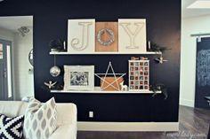 IMG_9921 Great Christmas shelf display idea!