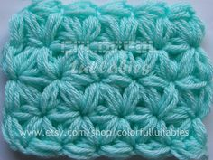 Ravelry: Jasmine Stitch No. 3- 6 petals with puffs in rows pattern by Sara Palacios