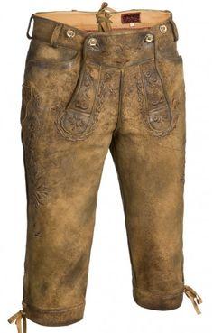Bavarian leather trousers Logan h-beam antique-tobacco