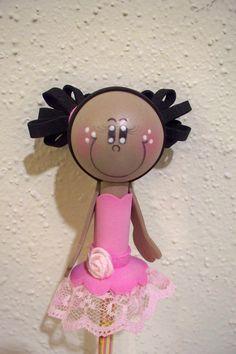 Ballerina girl craft foam pencil topper
