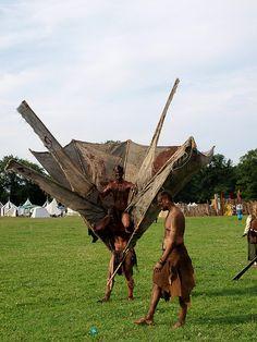 Mythodea 2010 Conquest Of Mythodea, Medieval Market, Larp, Live Action, Warfare, Fantasy Art, Lion Sculpture, Cosplay, Statue