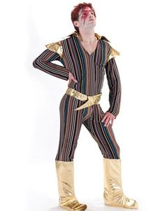 Adult Ziggy Stardust David Bowie Costume  sc 1 st  Pinterest & Pimp Costume White and Leopard Skin Pimp Costume : Get It On Fancy ...