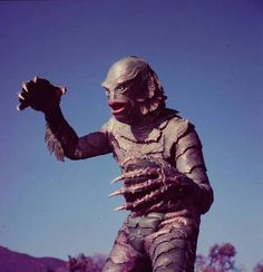"""The Creature From The Black Lagoon. Monster movies ruled in the 50s. """"Oooooo... it's really scary kids!"""""""