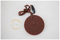 Oreo Cookie Silicone Teething Pendant