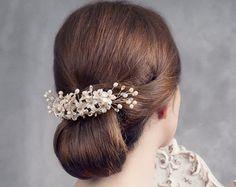 Orange blossoms headpiece. Bridal headpiece. por LenaRomHeadpieces