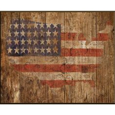 Enjoy a touch of Americana with this rustic wall decor, featuring a flag motif in the shape of the United States. Display it in your parlor for a patriotic p...
