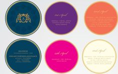 What can be more convenient than the entire itinerary of the wedding printed on round pieces of colored paper joined together. Wedding Stationery, Wedding Invitations, Laser Cut Box, Personalized Stationary, Indian Wedding Cards, Wedding Prints, Wedding Programs, Save The Date Cards, Leaf Design