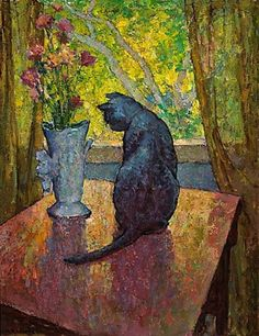 Cat and Vase. Mischa Askenazy.