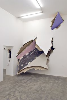 Felix Schramm, Untitled, 2007, Sheetrock, Wood, Colors, Gallery Sfeir Semler, Beirut, Libanon