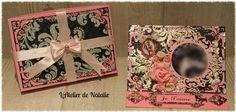 L'Atelier de Natalie: Carte pour La Saint Valentin : Rose, noir et argen...