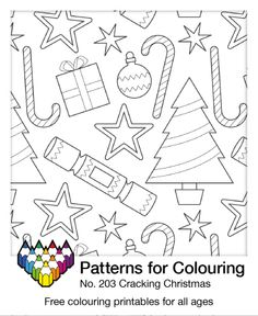Time for some Christmas themed colouring. Click through for the free printable. Use it as emergency wrapping paper!