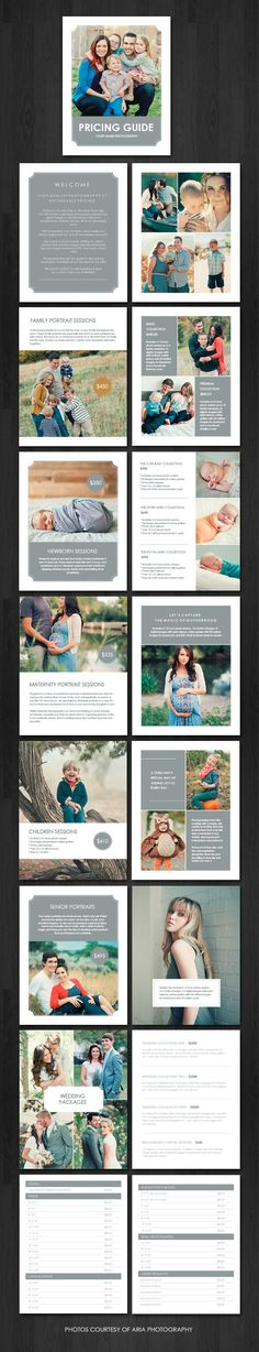 Pricing Guide Magazine Pricing guide magazine template for photographers                                                                                                                                                     More