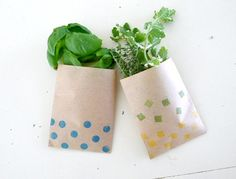DIY stamped candy bags