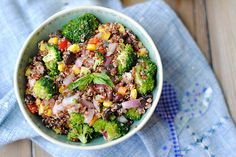 Summer quinoa recipe...delish! Love this blog...healthy recipes and great ideas