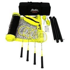 Badminton is good when you have the Baden Champions Badminton Set at your disposal. This awesome, portable set comes with everything you need to set. Badminton Rules, Best Badminton Racket, Summer Camp Games, Camping Games, Volleyball Net Set, Sports Games For Kids, Kid Games, Gifts Love, Tennis
