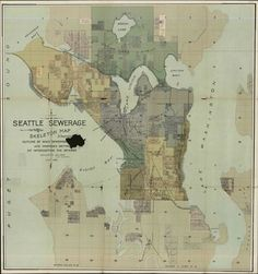 Seattle sewer districts, 1890