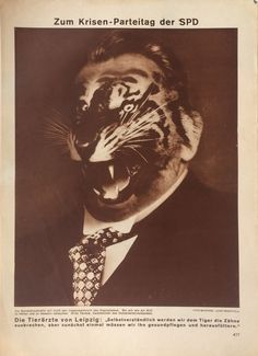 John Heartfield - Zum Krisen-Parteitag der SPD, Arbeiter Illustrierte Zeitung (To the Crisis-Party Convention of the Social Democratic Party, from the Workers' Illustrated News), Vol. 10, No. 24, 1931