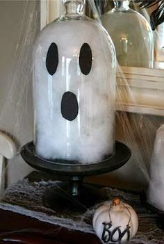Diy Halloween Ghosts, Theme Halloween, Halloween Crafts For Kids, Halloween Projects, Diy Halloween Decorations, Holidays Halloween, Halloween Clothes, Ghost Decoration, Costume Halloween