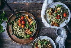 basilikaalfredo-8 Pasta Alfredo, Vegan Recipes, Ethnic Recipes, Food, Vegane Rezepte, Essen, Meals, Yemek, Eten