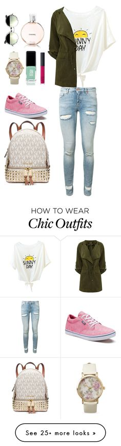 """Summer look "" by jimii on Polyvore featuring Off-White, Vans, Michael Kors, BillyTheTree, JINsoon, Chanel and NARS Cosmetics"