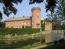Sövdeborg Castle (Swedish: Sövdeborgs slott) is a castle in Sjöbo Municipality, Scania, in southern Sweden. It was originally built in 1597, and was restored in 1840 by the architect Brunius. Out of approximately 200 castles in Skåne this is one of about 25 which allows public visitors