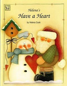 Christmas Crafts : Have a Heart Christmas Tole Painting Patterns Tree Angel Reindeer Santa etc Arte Country, Pintura Country, Country Crafts, Christmas Ornaments To Make, Christmas Books, Christmas Crafts, Tole Painting Patterns, Craft Patterns, Santa Crafts