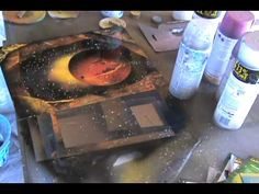 Spray Paint Art Tutorial: Cave walls and trees