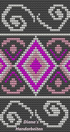 #mochila #freepattern #crochet #häkeln #tasche #muster Peyote Beading Patterns, Bead Loom Patterns, Loom Beading, Cross Stitch Patterns, Cross Stitch Designs, Tapestry Crochet Patterns, Crochet Stitches, Diy Necklace Patterns, Mochila Crochet