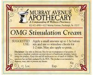 """OMG STIMULATION CREAM will make you say """"OH MY GOD!""""    New & Improved formulation available  Exclusively at Murray Avenue Apothecary! Our special formulation will help to enhance your sexual experience. Promotes increased blood flow, feelings of warmth and sensation, and provides lubrication. Achieve sexual stimulation by applying cream to clitoris or penis before anticipated intimacy and/or during foreplay. $29.00"""