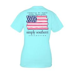Classic short sleeve T-shirt by Simply Southern - American by Birth, Southern by the Grace of God