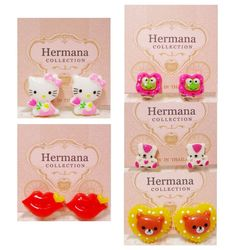5 Pairs Lot of Cute Clip-On Earrings for Kids Girl Fashion Women Children Gift #ClipOnEarrings