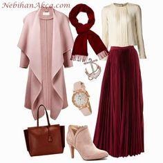 Hijab Fashion 2016, Modesty Fashion, Abaya Fashion, Muslim Fashion, Fashion 2020, Girl Fashion, Fashion Looks, Fashion Outfits, Womens Fashion