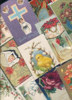 Antique  Mixed Lot of 25 Holidays & Greetings  Postcards-Vintage-a-36 #HolidaysGreetings