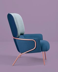 Cotton armchair by Eli Gutierrez studio / Missana #MetalChair
