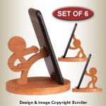 Other Scroll Saw Designs Character Cell Phone Holders Pattern Set - Iphone Holder - Ideas of Iphone Holder - Other Scroll Saw Designs Character Cell Phone Holders Pattern Set Wood Phone Holder, Iphone Holder, Iphone Stand, Cell Phone Holder, Iphone Phone, Cell Phone Stand, Wooden Projects, Wood Crafts, Diy And Crafts