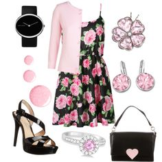 Date Night Outfit 50 - Katie by office-girl on Polyvore featuring polyvore fashion style Xandres xline Jessica Simpson Kate Spade Allurez Georg Jensen Swarovski Topshop