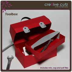 SVG file paper tool box, also on sweet tooth boxes and bags tags more 2