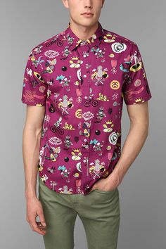 Stussy Story Time Button-Down Shirt #urbanoutfitters