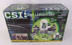 CSI Crime Scene Investigation DNA Lab Kit Real Working Lab NIB #PlanetToys