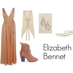 Elizabeth Bennet from Jane Austen's Pride and Prejudice (Suggested by daydreamdelusion) Character Inspired Outfits, Disney Inspired Outfits, Disney Outfits, Tv Show Outfits, Cute Outfits, Jane Austen, Victorian Era Fashion, Pride And Prejudice And Zombies, Elizabeth Bennet