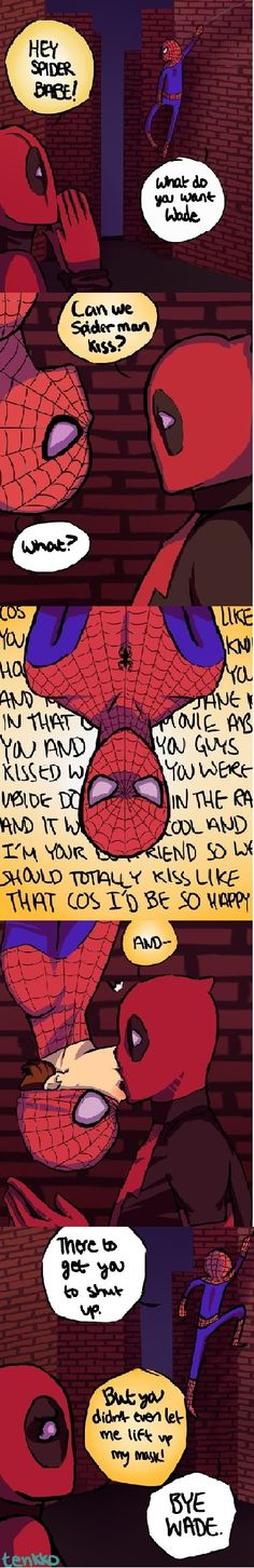 Spideypool, Spiderman kiss