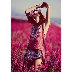 Free People Taps Flower Girls Fei Fei Sun, Martha Hunt, Alana Zimmer... ❤ liked on Polyvore