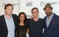 BEVERLY HILLS, CA - SEPTEMBER 06 (L-R): The Flash executive producer Andrew Kreisberg, Candice Patton, The Flash executive producer Greg Berlanti, and Jesse L. Martin attend the 2014 PALEYFEST Fall TV Previews honoring The CW's Jane The Virgin and The Flash   http://www.redcarpetreporttv.com/2014/09/08/recap-from-the-paleyfest-fall-tv-previews-honoring-the-cws-jane-the-virgin-and-the-flash-janethevirgin-theflash-video-trailers/