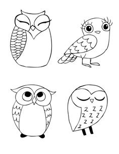 Animals For > Easy Owl Doodle