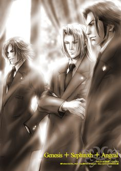 Genesis, Sephiroth, and Angeal