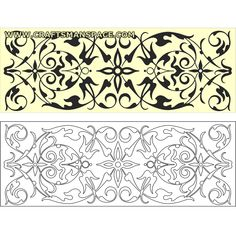 "Ornamental panel 2.   FREE ""PERSONAL USE"" DWG, SVG, EPS FILES."