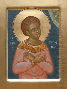 This icon of St Gabriel of Bialystok can be painted with either acrylic or tempera paints. We will take all your preferences into account when painting this icon of Saint Gabriel of Bialystok Byzantine Icons, Byzantine Art, Saint Gabriel, Paint Icon, Archangel Gabriel, Orthodox Christianity, Orthodox Icons, Shades Of Gold, Saints